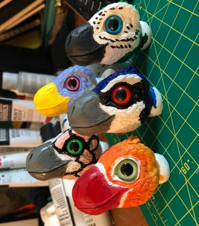 Anime Boston 2018 Raptor Heads Work in Progress