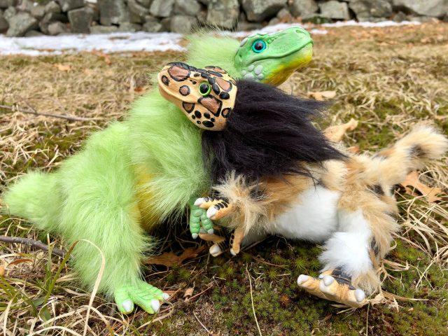 Baby T-Rex Creature Smith Dolls Hugging