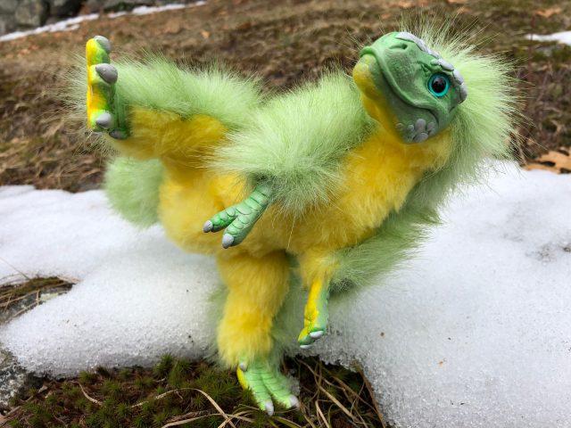 Ninja Baby T-Rex Poseable Art Doll The Creaturesmith