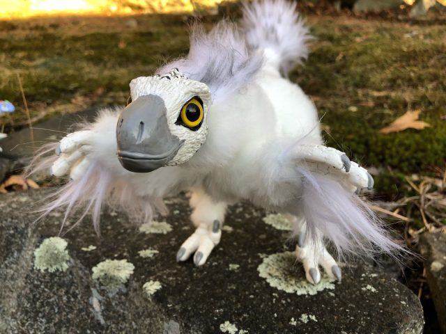 Snowy Owl Raptor Poseable Art Doll The Creaturesmith
