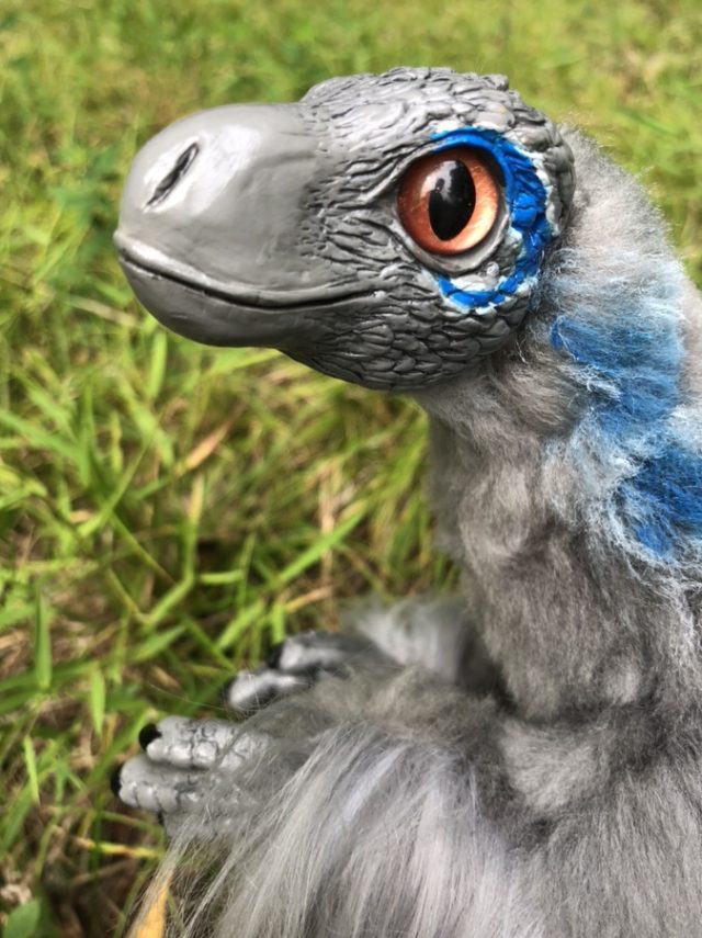 Creature Smith Art Doll Blue Raptor