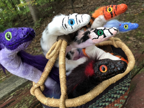Snaketober 2018 CreatureSmith Basket of Snakes Art Dolls
