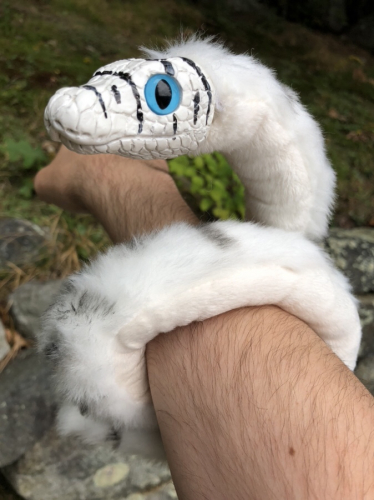 The Creature Smith Arctic Snake Art Doll Plush