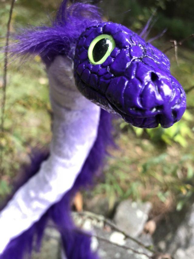 The Creature Smith Super Mega Fest Convention Purple Snake Plush