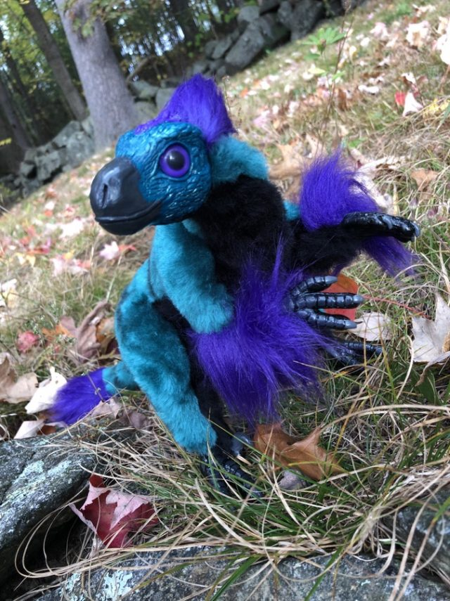 Art Doll Teal Raptor