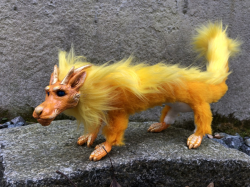 Orange Dragon Posable Art Doll