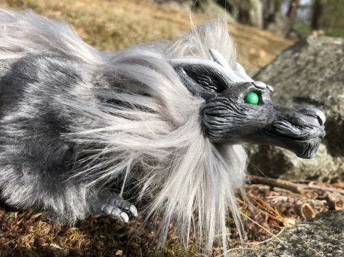 Silver Asian Dragon Creature Smith