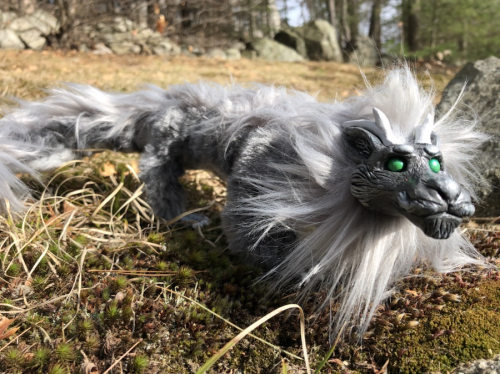 Furry Dragon Poseable Artdoll