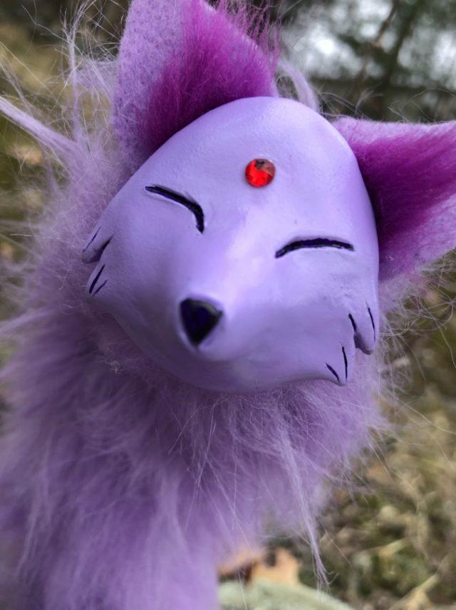 Purple Espeon Pipefox Artdoll