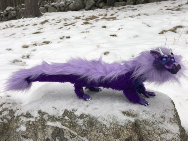 Poseable Artdoll Purple Space Dragon Fluffy