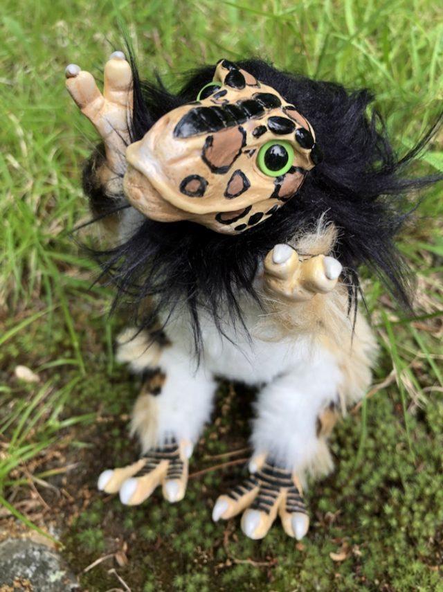 Leopard T-rex Art Doll Shrug