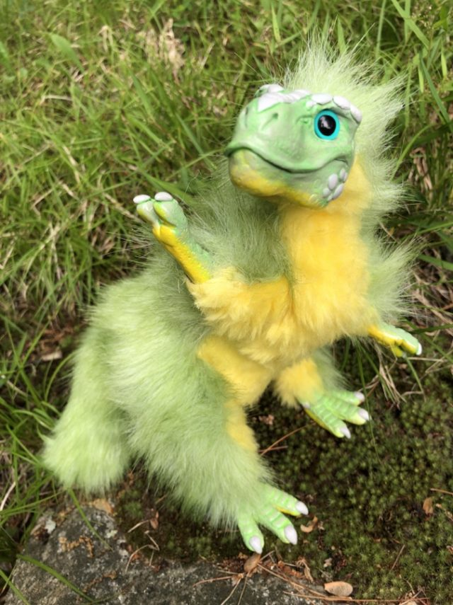 Green Baby T-rex Yellow Creature Smith