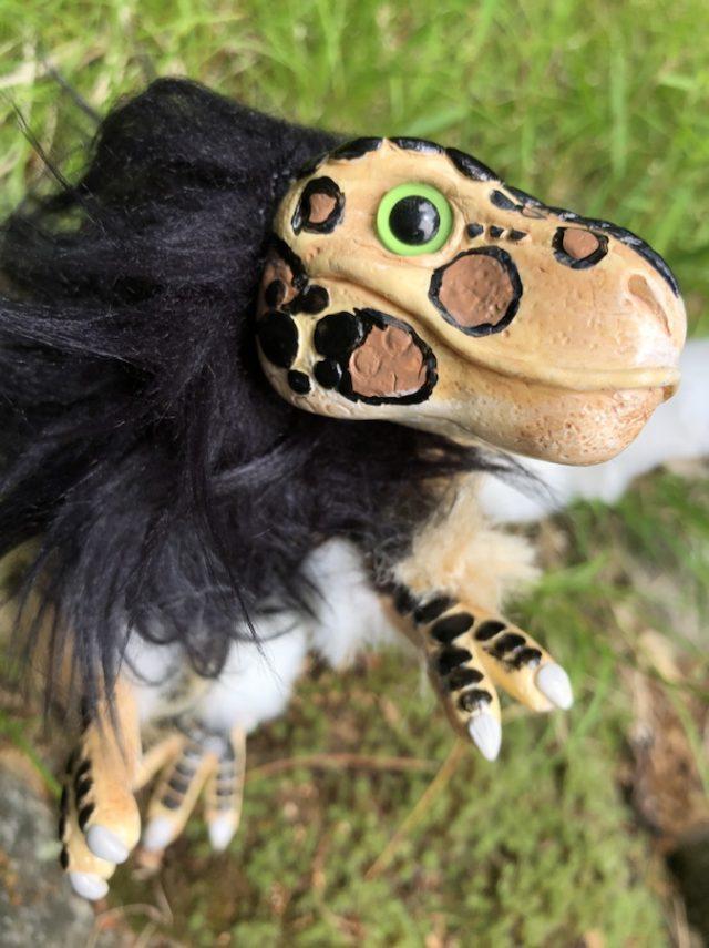 Leopard Baby Dinosaur Headshot Greeneyes