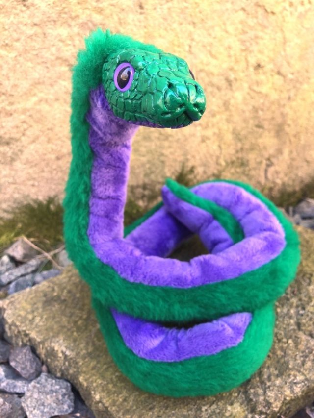 Commission Snake Poseable Art Doll Green